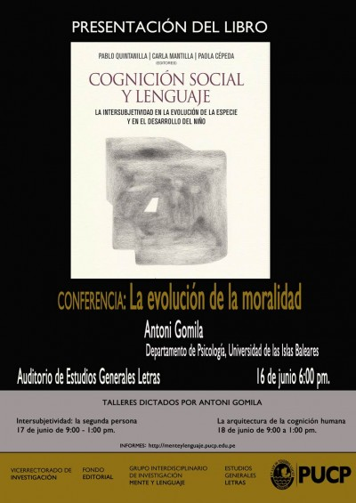 """Imagen para Book release. """"Cognición social y lenguaje. La intersubjetividad en la evolución de la especie y en el desarrollo del niño"""""""